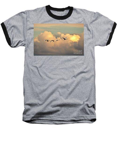 Swan Heaven Baseball T-Shirt