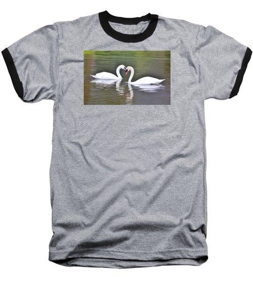 Swan Love Baseball T-Shirt