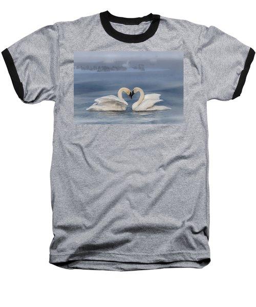 Swan Valentine - Blue Baseball T-Shirt