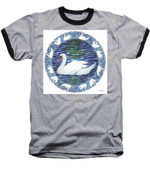 Swan With Knotted Border Baseball T-Shirt