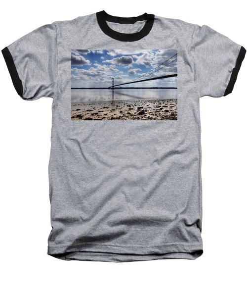 Swans At Humber Bridge Baseball T-Shirt