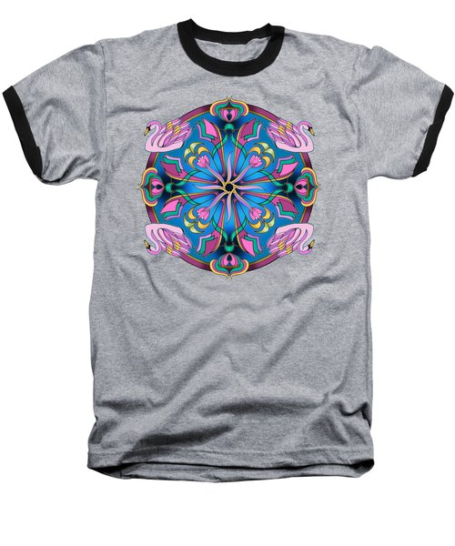 Swans Of Pink Baseball T-Shirt by Mickey Flodin