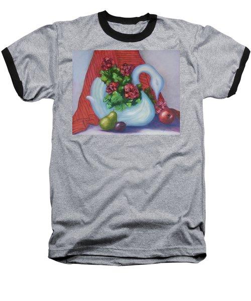 Swanza's Swan Baseball T-Shirt by Quwatha Valentine