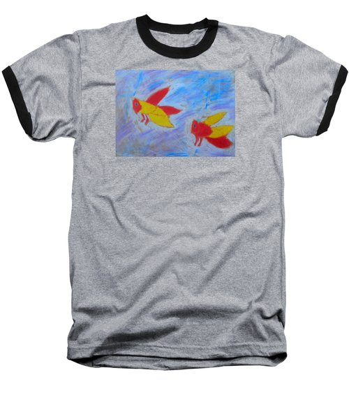 Baseball T-Shirt featuring the painting Swarming Bees by Artists With Autism Inc