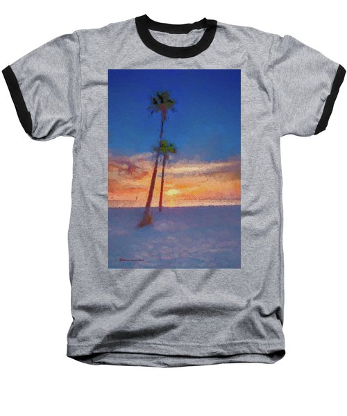Baseball T-Shirt featuring the photograph Swaying Palms by Marvin Spates