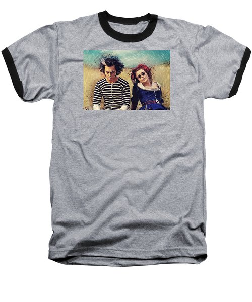 Sweeney Todd And Mrs. Lovett Baseball T-Shirt by Taylan Apukovska