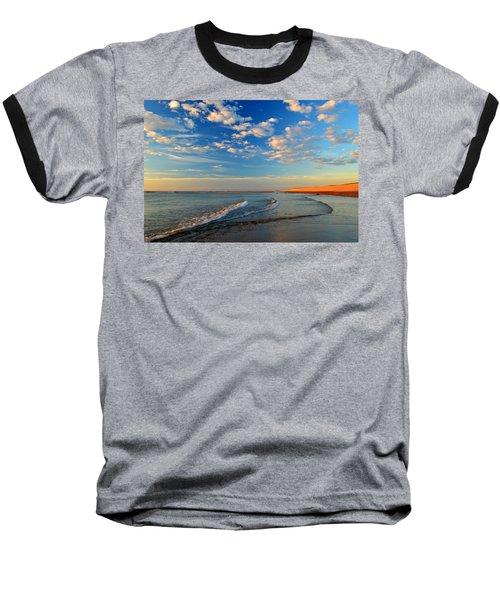 Sweeping Ocean View Baseball T-Shirt