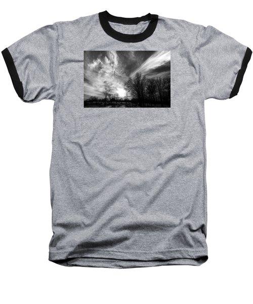 Sweeping Sky Baseball T-Shirt