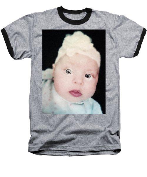 Sweet Baby Girl Portrait Baseball T-Shirt