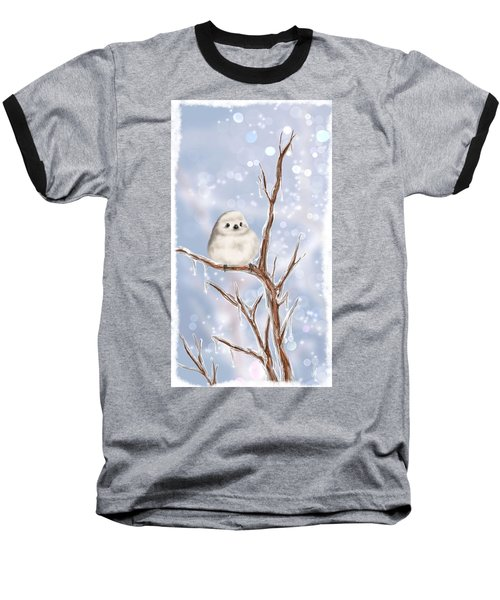 Baseball T-Shirt featuring the painting Sweet Cold by Veronica Minozzi