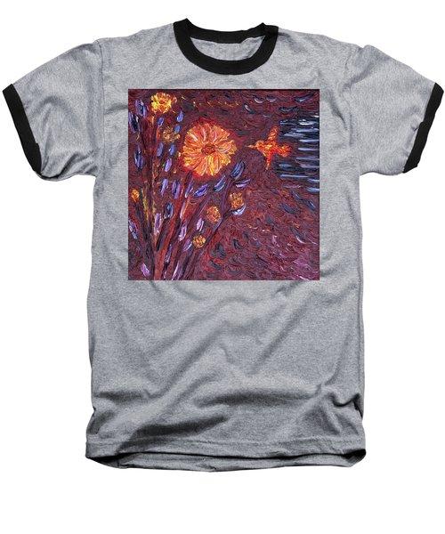 Sweet Flower Baseball T-Shirt by Vadim Levin