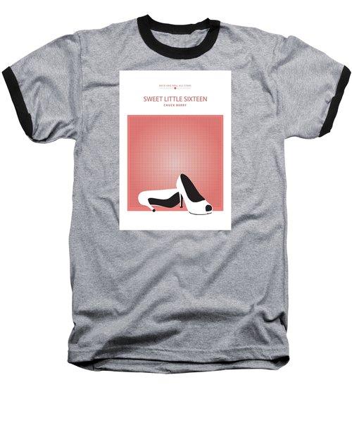 Sweet Little Sixteen -- Chuck Berry Baseball T-Shirt