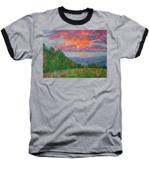 Sweet Pea Morning On The Blue Ridge Baseball T-Shirt
