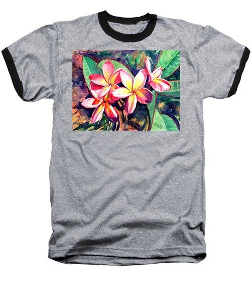 Sweet Plumeria Baseball T-Shirt