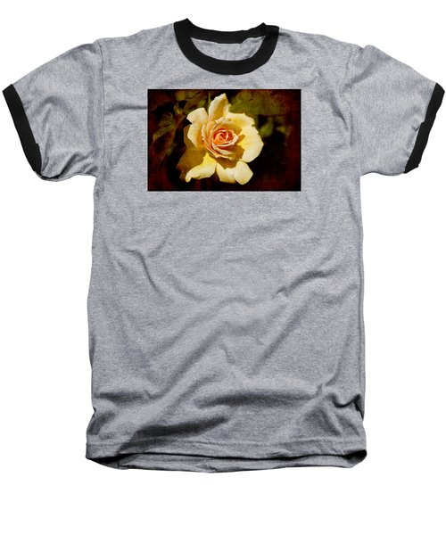 Sweet Rose Baseball T-Shirt by Milena Ilieva