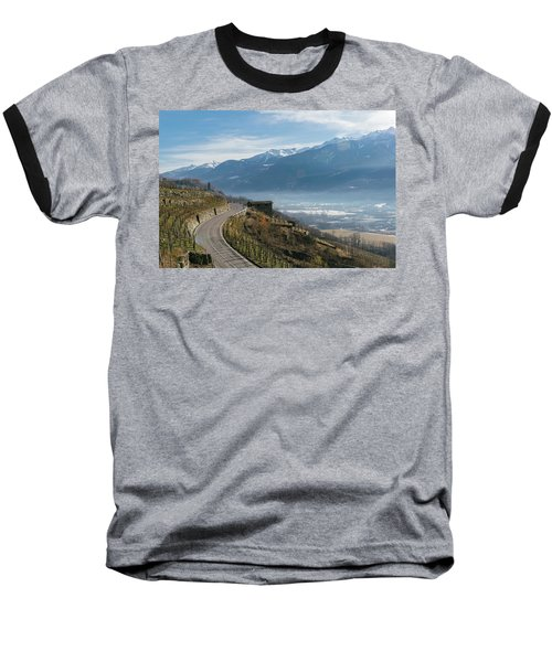 Swerving Road In Valtellina, Italy Baseball T-Shirt