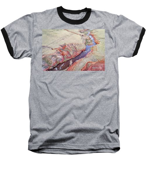 swift creek at  Colorado foothills - aerial view Baseball T-Shirt