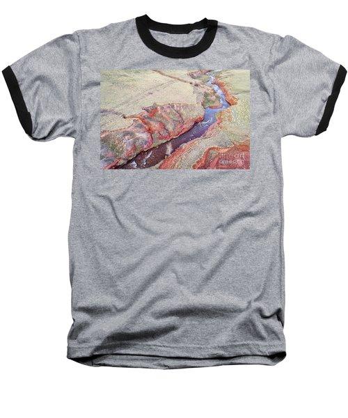 swift creek at  Colorado foothills - aerial view Baseball T-Shirt