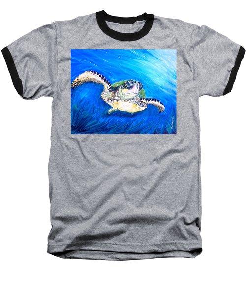 Swim Baseball T-Shirt by Dawn Harrell