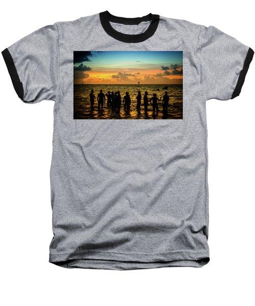 Swimmers Sunrise Baseball T-Shirt