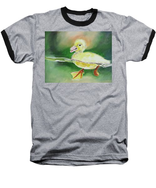 Swimming Duckling Baseball T-Shirt