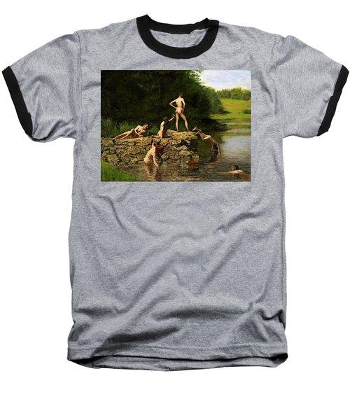 Swimming Hole Baseball T-Shirt