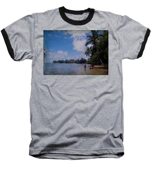 Swimming In Moorea Baseball T-Shirt