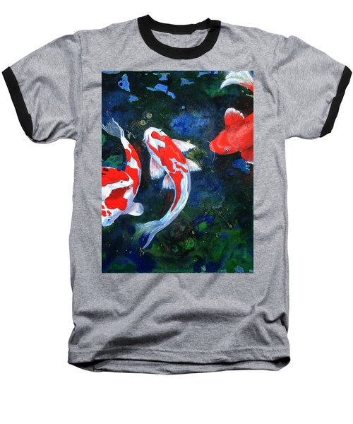 Swimming In Peace Baseball T-Shirt by T Fry-Green