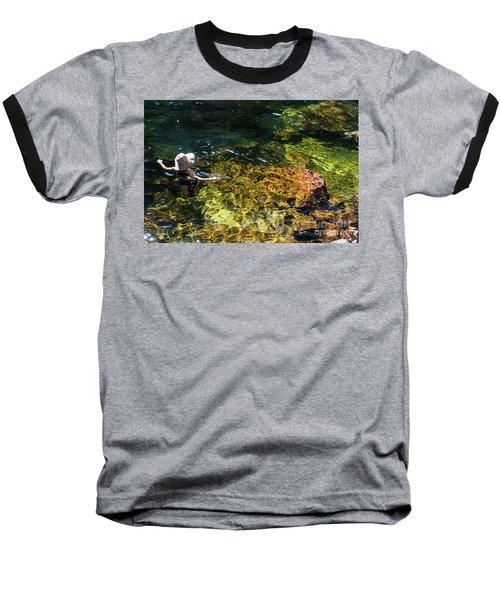 swimming in the Buley Rockhole waterfalls Baseball T-Shirt