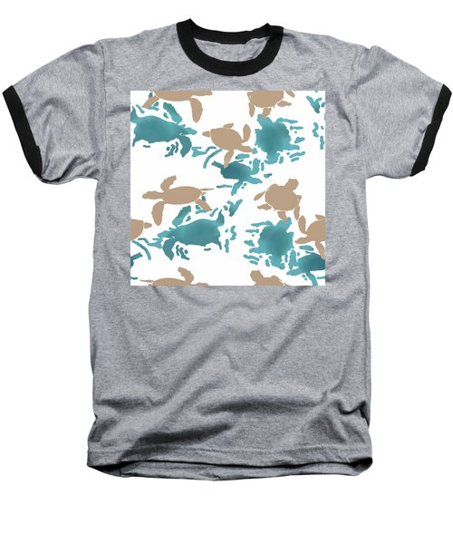 Swimming Turtles Baseball T-Shirt
