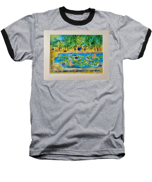 Swimming With Waterlilies And Fish Baseball T-Shirt