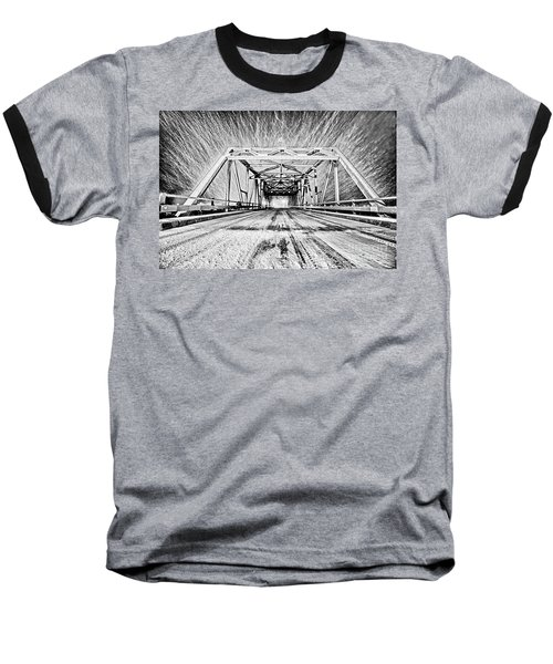 Swing Bridge Blizzard Baseball T-Shirt