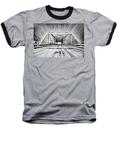 Swing Bridge Blizzard Baseball T-Shirt
