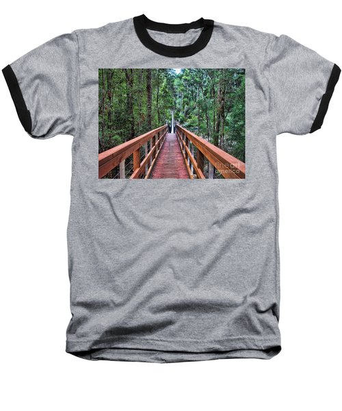 Swing Bridge Baseball T-Shirt by Trena Mara