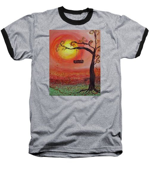 Swing Into Autumn Baseball T-Shirt