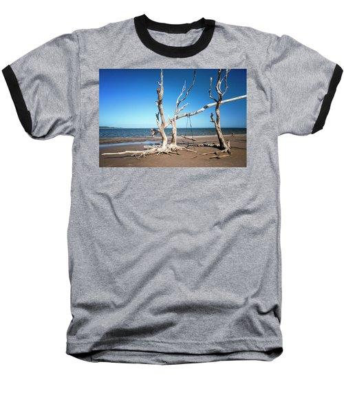 Swingin' At Low Tide Baseball T-Shirt