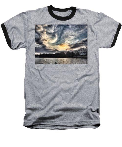 Swirl Sky Sunset Baseball T-Shirt