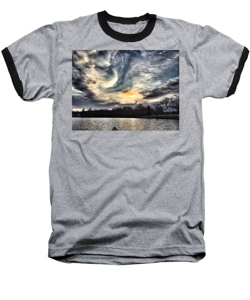 Swirl Sky Sunset Baseball T-Shirt