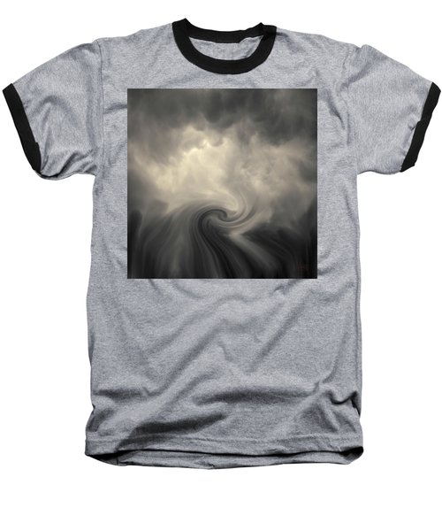 Baseball T-Shirt featuring the photograph Swirl Wave Vi Toned by David Gordon