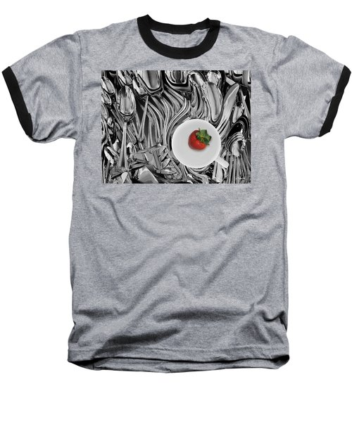 Swirled Flatware And Strawberry Baseball T-Shirt