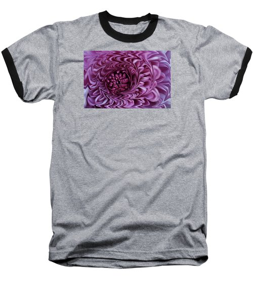 Baseball T-Shirt featuring the photograph Purple Mum Abstract by Glenn Gordon