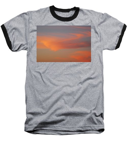 Swirling Clouds In Evening Baseball T-Shirt