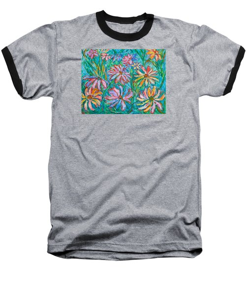 Swirling Color Baseball T-Shirt by Kendall Kessler