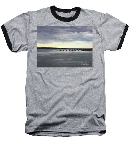 Swirling Currents On Casco Bay Baseball T-Shirt by Patricia E Sundik