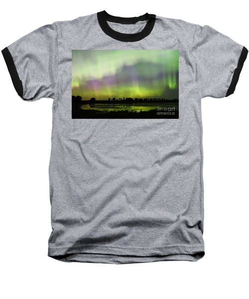 Baseball T-Shirt featuring the photograph Swirling Curtains 2 by Larry Ricker