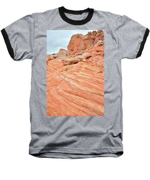 Baseball T-Shirt featuring the photograph Swirling Sandstone Color In Valley Of Fire by Ray Mathis