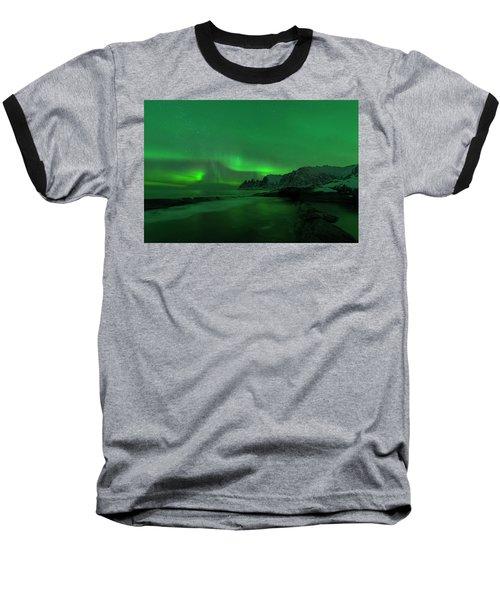Swirling Skies And Seas Baseball T-Shirt