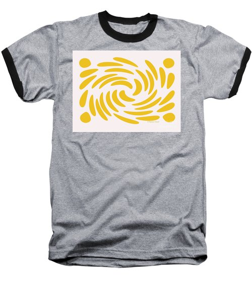 Swirls N Dots S3 Baseball T-Shirt