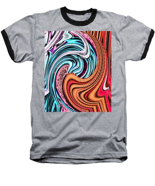 Swirly Abstract 7179a Baseball T-Shirt
