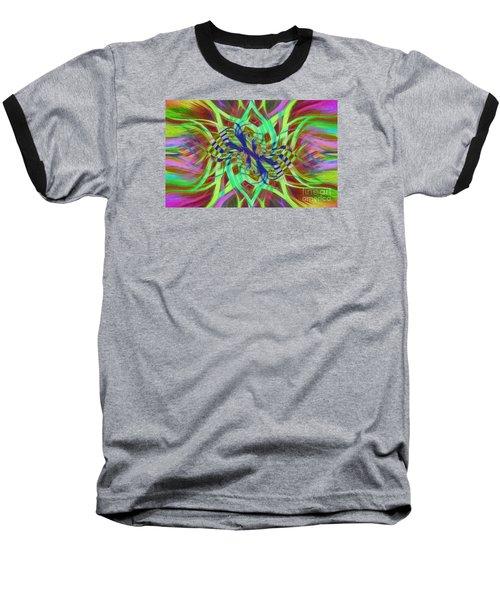 Swirly Floral Mandala 01 Baseball T-Shirt